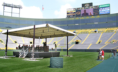 Lambeau Field, Green Bay, WIstage cover